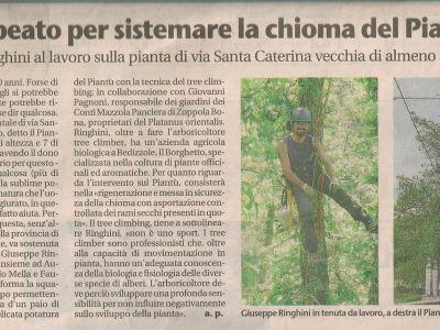 articolo del giornale di Brescia
